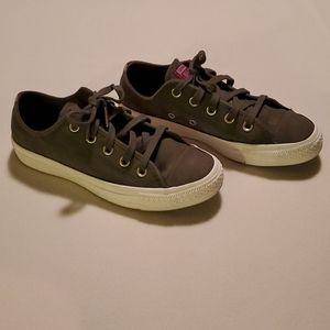 Green Suede Converse